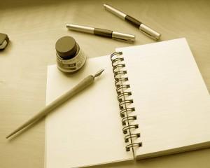 Blank paper & pens